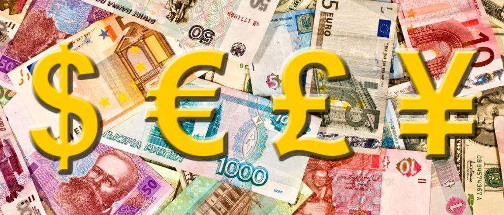 доллары фунты евро йены